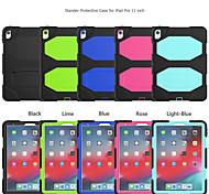 economico -telefono Custodia Per Apple Per retro iPad 8 (2020) 10.2 '' iPad 7 (2019) 10,2 pollici iPad Pro (2020) 11 pollici Resistente agli urti Tinta unita Silicone PC