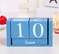 economico -decorazione rettangolare mini calendario in legno