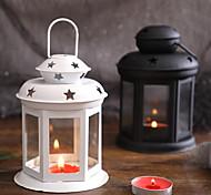 economico -candelabro portatile in stile europeo lampada da vento in ferro da ragazza con candelabro per aromaterapia scavata ornamento a stella