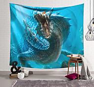 abordables -Tapisserie murale art décor couverture rideau suspendu maison chambre salon décoration polyester fibre animal profond dragon de mer conception lanting