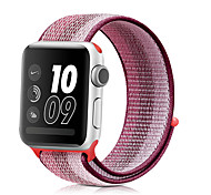 abordables -1 pièces Bracelet de Montre  pour Apple  iWatch Bande de sport Nylon Sangle de Poignet pour Apple Watch Series 6 / SE / 5/4 44 mm Apple Watch Series 6 / SE / 5/4 40mm Apple Watch Series 3/2/1 38 mm