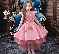 abordables -Enfants Petit Fille Robe Couleur Pleine Paillettes Brodée Maille Bleu Rose Claire Vin Maxi Sans Manches Actif Doux Robes Standard