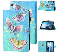 abordables -téléphone Coque Pour Tablettes Lenovo Coque Intégrale M10 Plus TB-X606F Lenovo M10 TB-X605F TB-X505F Antichoc Bande dessinée Papillon TPU