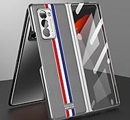 economico -telefono Custodia Per Samsung Galaxy Integrale Custodia in pelle Custodia flip Galaxy Z Fold 2 Placcato Con chiusura magnetica Tinta unica pelle sintetica PC