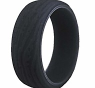 abordables -Bague de mariage en caoutchouc de silicone vintage rétro de 9 mm bague de bande excersie classique (gris, 14)