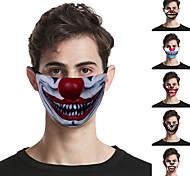 abordables -5 pcs Masques d'impression exagérée pour les lèvres Masques lavables d'extérieur unisexes Masques respirants anti-poussière à la mode