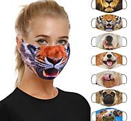 abordables -5 pièces masques unisexes masques à imprimé animalier masques réutilisables respirants en plein air lavables