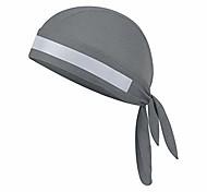 abordables -séchage rapide coton respirant cyclisme chapeau de course soleil protection uv chapeau de pirate chapeaux de sport casquette bandana sous casque chapeau casquette crâne bonnet de moto (gris avec bande