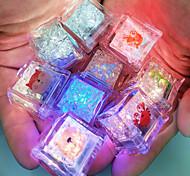 abordables -Jeu de Bain Jouet flottant de pêche Jouets pour piscine Jouets de bain Jouet de baignoire Glaçons lumineux Plastique Clignotant de couleur Capteur de liquide Changer les lumières Baignoire L'heure du