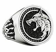 abordables -acier inoxydable tête de loup anneau assistant nordique rétro chasseur cool bandes bijoux pour hommes (8)