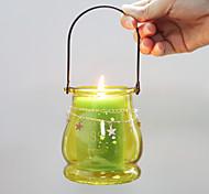 economico -portacandela in vetro a forma di lanterna con manico