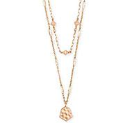 abordables -collier de longueur réglable à plusieurs brins de clou de girofle pour femme, bijoux fantaisie, plaqué or rose 14 carats