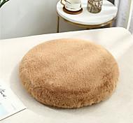 abordables -fourrure de lapin doux coussin de siège de bureau à domicile oreiller couleur unie empêcher le glissement garder au chaud coussin de chaise bureau à domicile chambre utilisation à domicile table à