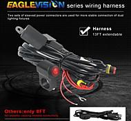 abordables -1 pcs LED moto projecteurs moto lumière de travail externe forte lumière blanche électrique LED lumières antibrouillard pour moto noir
