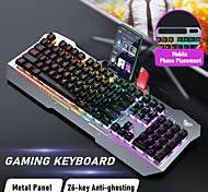 economico -tastiera da gioco luminosa a colori misti usb cablata aula manipolatore keycap mobile tastiera singola k500f