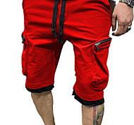 economico -Per uomo Carico Chino All'aperto Pantaloncini Carico tattico Pantaloni Tinta unita Lunghezza del ginocchio Tasche Bianco Nero Rosso Giallo Verde