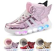 abordables -Fille Basket LED Chaussures Recharge USB Noël Polyuréthane Chaud Chaussures éclairantes Petits enfants (4-7 ans) Grands enfants (7 ans et +) Quotidien Marche LED Rouge Rose Dorée Automne Hiver