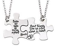 economico -collana dell'amicizia per 2 migliori amiche fianco a fianco si chiudono nel set di collana a cuore