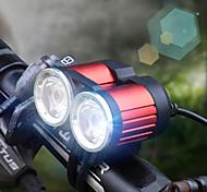 economico -LED Luci bici Luce frontale per bici LED Bicicletta Ciclismo Professionale Solare 1600 lm Batteria ricaricabile Bianco Ciclismo / Lega d'alluminio / IPX 6