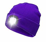 abordables -bonnet led avec lumière, nouveau bonnet en tricot led bonnet éclairé bonnet unisexe mains libres rechargeable casquette de chapeau multicolore pour la chasse / camping / jogging / activités de plein