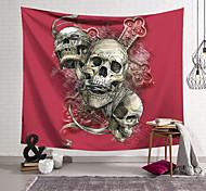 abordables -Tapisserie murale art décor couverture rideau suspendu maison chambre salon décoration polyester fibre nature morte crâne effrayant croix