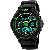 abordables -montre enfant multi fonction numérique LED sport étanche montres à quartz électroniques pour enfant garçon filles cadeau vert (vert)