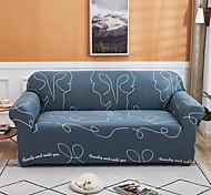abordables -lignes impression housse de canapé 1 pièce housse de canapé protecteur de meubles housse extensible douce tissu jacquard spandex super fit pour canapé 1 ~ 4 coussin et canapé en forme de l, facile à