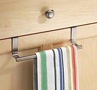 abordables -maison cintre d'armoire en acier inoxydable sur la porte crochet de cuisine porte-serviettes cintre support de barre de rangement de tiroir outils de salle de bain