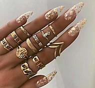 abordables -Boho bague en or ensemble joint articulé bagues sculptées accessoires de main élégants bijoux pour femmes et filles (11pcs)