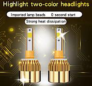 abordables -2pcs ampoules de phare de voiture LED H1 H4 9005 9006 H3 H7 H11 Auto C6 Ampoule LED feux de voiture éclairage phare de voiture phare LED universel