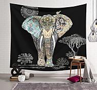 abordables -tapisserie murale art décor couverture rideau suspendu maison chambre salon décoration polyester fibre animal couleur motif éléphant orchidée pavillon conception