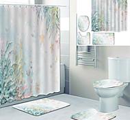 abordables -Rideaux de douche et anneaux Salle de Bain Arc-en-ciel Polyester Néoclassique Imperméable