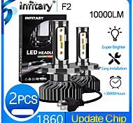 abordables -INFITARY 2pcs H7 / H3 / H11 Moto / Automatique Ampoules électriques LED Lampe Frontale Pour