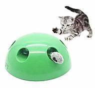 abordables -chat jouets interactifs animal de compagnie jouet de mouvement électronique automatique intelligent mouvement aléatoire drôle outil de chat griffe fournitures pour animaux de compagnie vert