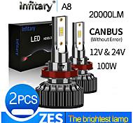 abordables -Infitary 20000lm super lumineux canbus sans erreur pour 12v 24v h4 led h13 9004 9007 led voiture phare camion ampoule antibrouillard lampe