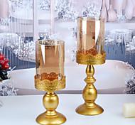 economico -candeliere d'oro candeliere di nozze di natale candelabro decorazione cena a lume di candela