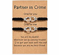 economico -partners in crime braccialetti per 2 ragazzo e ragazza migliore amico manette abbinamento braccialetto di amicizia per le donne uomini ragazze coppia anima sorella bestie