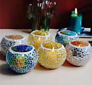 economico -decorazione della cena a lume di candela della tazza della candela del mosaico