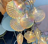 abordables -1.5m 10leds guirlande de fées LED coquille romantique guirlande lumineuse lampe de vacances pour la fête de noël mariage maison décoration intérieure blanc chaud éclairage batterie aa batterie