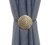 economico -1 pezzo fermatende magnetiche fermatende metalliche moderne tende decorative drappeggio fermatende per home office trattamento per finestre trasparenti oscuranti sottili o spessi