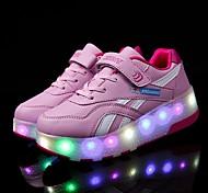 abordables -Garçon Fille Chaussures d'Athlétisme Confort LED Chaussures Recharge USB Polyuréthane Chaussures éclairantes Petits enfants (4-7 ans) Grands enfants (7 ans et +) Quotidien Marche LED Noir Rose