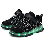 abordables -Garçon Fille Basket Confort LED Chaussures Recharge USB Tissu élastique Petits enfants (4-7 ans) Grands enfants (7 ans et +) Quotidien Marche Noir Rouge Bleu Automne Printemps