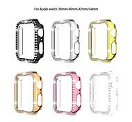 economico -Custodie Per Apple  iWatch Apple Watch Serie 6 / SE / 5/4 44 mm / Apple Watch Serie  6 / SE / 5/4 40mm / Apple Watch Serie  3/2/1 38 mm Plastica Proteggi Schermo Custodia per Smartwatch  Compatibilità