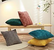 abordables -1 pc décoratif housse de coussin de haute qualité en velours hollandais taie d'oreiller housse de coussin pour canapé-lit canapé 18 * 18 pouces 45 * 45 cm