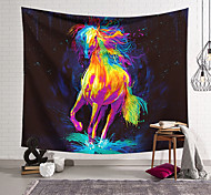 abordables -Tapisserie murale art décor couverture rideau suspendu maison chambre salon décoration polyester cheval de course