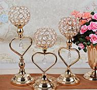economico -candeliere di cristallo luce lusso oro lron candela tazza soggiorno tavolo da pranzo romantico lume di candela cena decorazione decorazioni candeliere