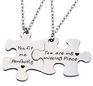 abordables -porte-clés puzzle couple tu es ma pièce manquante tu me correspond parfaitement ensemble de deux (costume de collier)