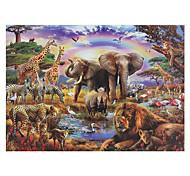 abordables -épaissir 1000 pièces forêt faune monde adulte décompression puzzle cadeau jouet