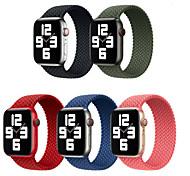 economico -Cinturino intelligente per Apple  iWatch 1 pcs Cinturino sportivo Tessuto Nylon Sostituzione Custodia con cinturino a strappo per Apple Watch Serie 6 / SE / 5/4 44 mm Apple Watch Serie  3/2/1 42 mm