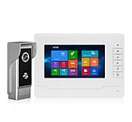 abordables -Interphone vidéo de porte de 7 pouces pour la maison écran tactile fonction d'enregistrement de langue OSD caméra étanche IR Vision nocturne système de sonnette vidéo